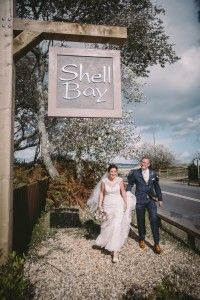 Shell Bay wedding entrance